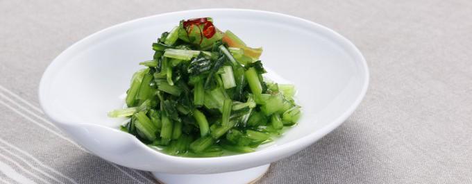 刻み壬生菜盛り付け画像